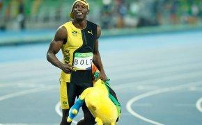 Usain Bolt after a race