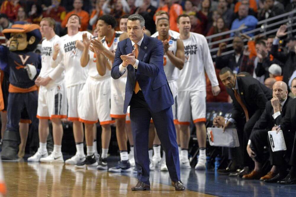 Coach Tony Bennett of the Virginia Cavaliers