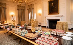 The fast-food spread President Trump served to the Clemson Tigers football team.