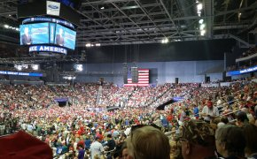 A recent Trump rally in Evansville, IN. The president is already campaigning for 2020.