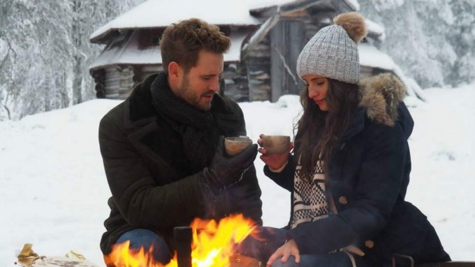 Luke and Ashley, contestants on The Bachelor Winter Games.