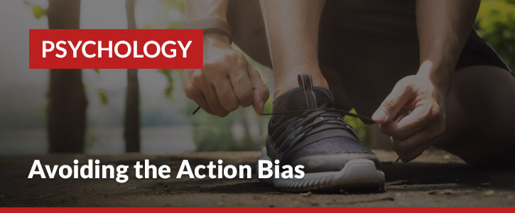 action bias betting psychology header image runner tying shoes