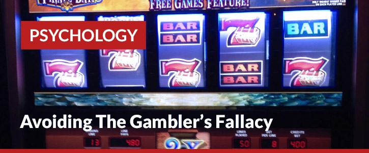 avoiding the gambler's fallacy header image slot machine