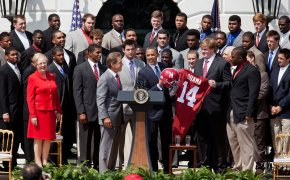 Nick Saban and the Alabama Crimson Tide at the White House