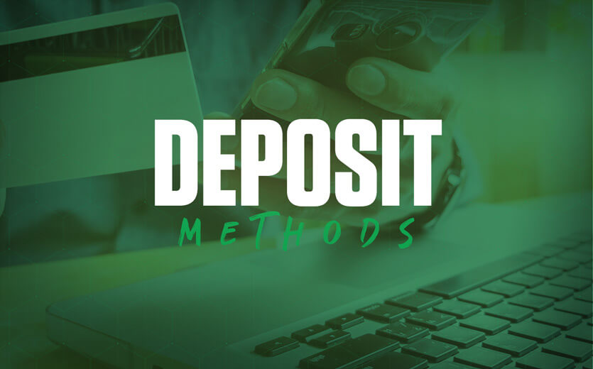 deposit methods card and keyboard