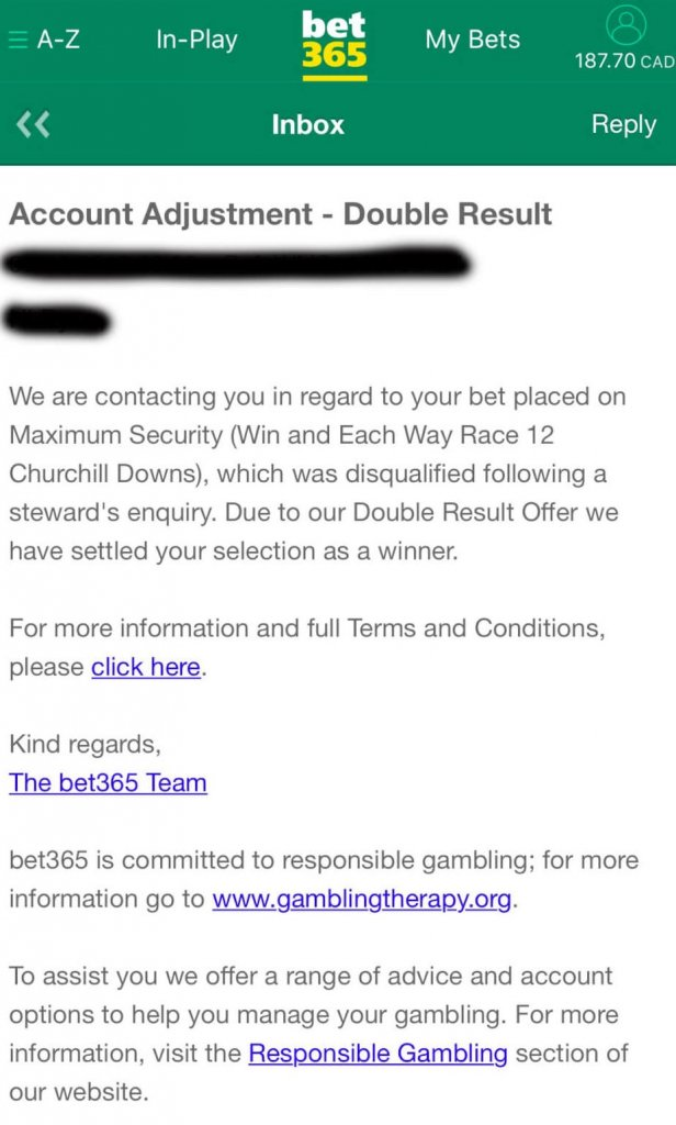 BetOnline & Bet365 Paying Out Maximum Security Bets at 2019