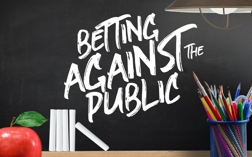 Betting against the public on betting 101 chalkboard