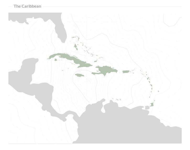 caribbean online sportsbook licensing regions map