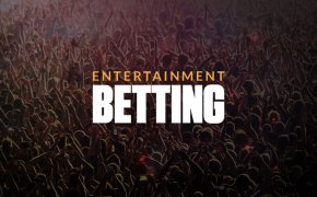 Entertainment betting text overlay on crowd concert image