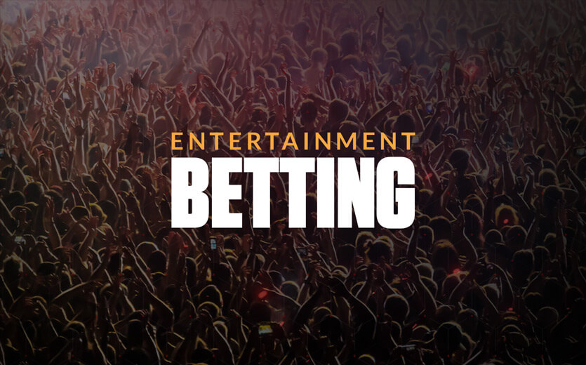 Entertainment betting text overlay on concert image