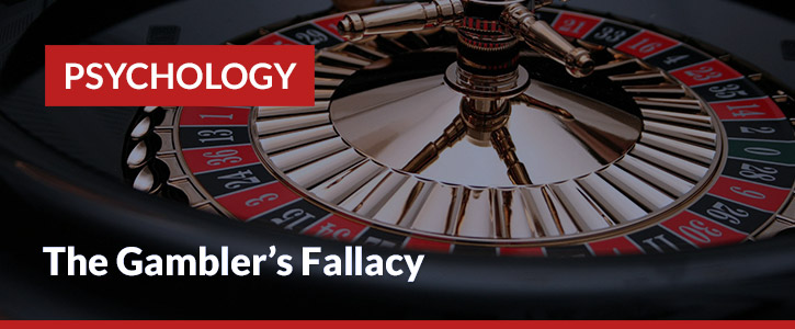 the gamblers fallacy header image roulette wheel black red