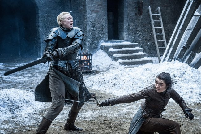 Brienne and Arya from Game of Thrones