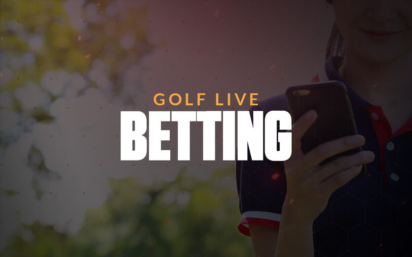 golf live betting text overlay