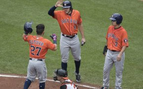 Houston Astros celebrating.