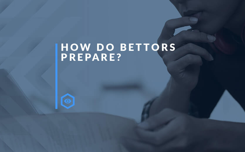 how do most bettors prepare text overlay on man handicapping sports bets