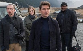 Tom Cruise, Simon Pegg, Rebecca Ferguson and Ving Rhames in