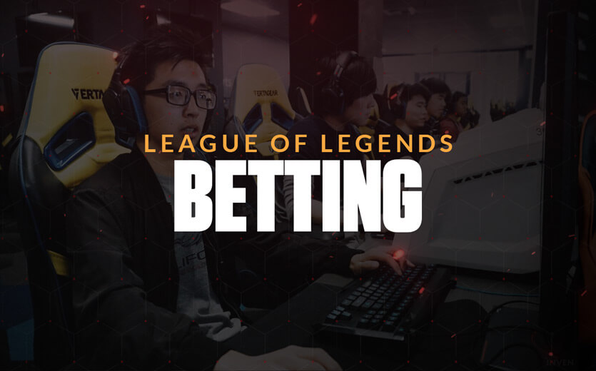 League of Legends Betting text overlay on eSports betting image