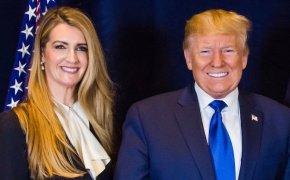 Kelly Loeffler with Donald Trump