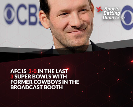 Tony Romo in the broadcast booth