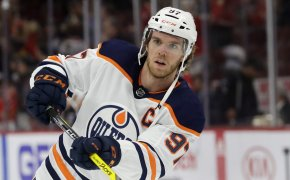 Edmonton Oilers center Connor McDavid shooting
