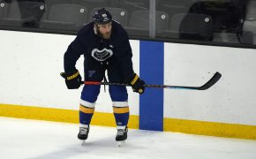 Ryan O'Reilly practicing