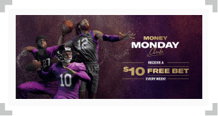 Screenshot of BetMGM Money Monday Club free bet promotion
