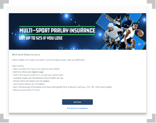 FanDuel multi-sport parlay insurance terms and conditions