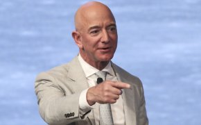 Amazon founder Jeff Bezos at the JFK Space Summit