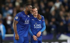 Jamie Vardy, right, of Leicester City