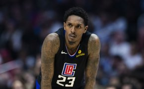 Lou Williams hands on knees