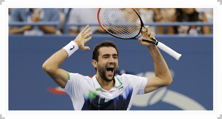 Marin Cilic reacts to winning the 2014 US Open