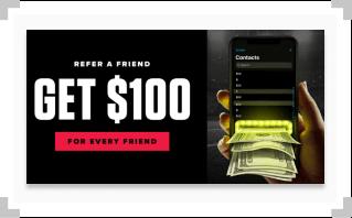 Screenshot of PointsBet Sportsbook referral bonus promo