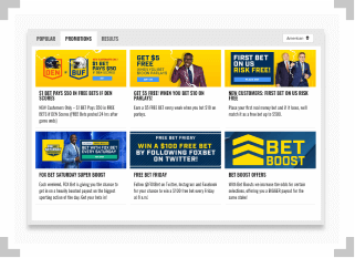 FOX Bet promotions page