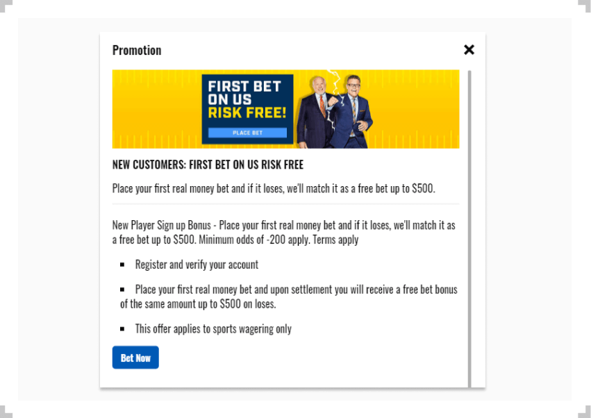 FOX Bet welcome offer terms
