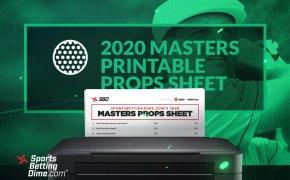 2020 Masters printable props sheet