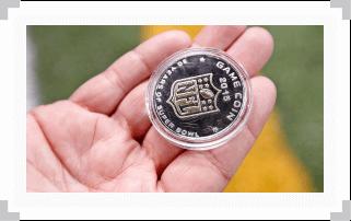 Super Bowl game coin