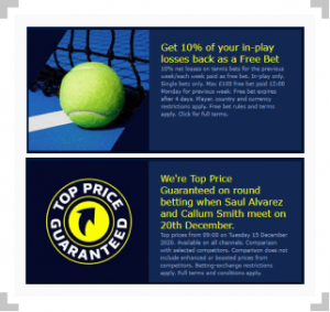 Sports william hill bet betting tennis 60 second binary options 2021