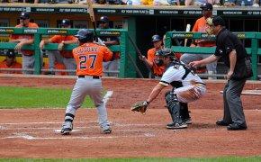 Jose Altuve at bat