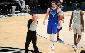 Luka Doncic not happy with call