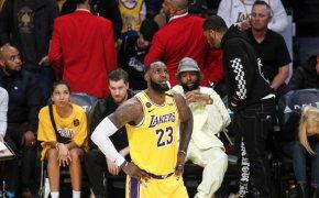 LeBron James hands on hips