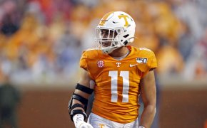 Tennessee linebacker Henry To'o To'o on the field during an NCAA college football game.