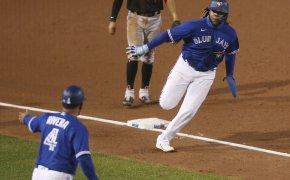 Toronto Blue Jays Vladimir Guerrero Jr. rounding third base