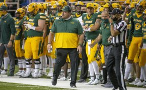 NDSU coach walking