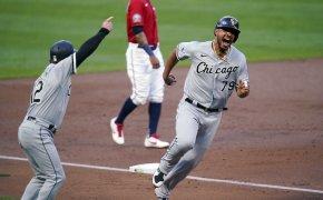 Chicago White Sox's Jose Abreu rounding third base