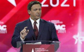 Florida Gov. Ron DeSantis speaks at the Conservative Political Action Conference