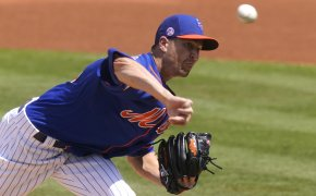 Jacob deGrom delivers a pitch