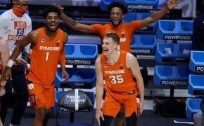 Syracuse players celebrating