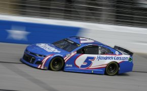 NASCAR Food City Dirt Race - Kyle Larson and Christopher Bell