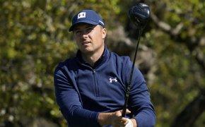 Jordan Spieth watches tee shot