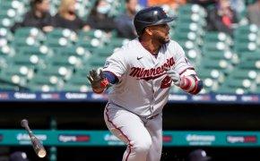 Nelson Cruz leaves the batter's box